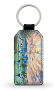 dens park going to the match  PU Leather Keyring Printed Both Sides (1)